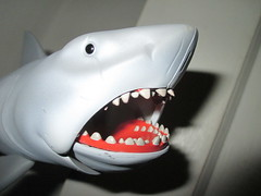 JAWS movie fellows Bruce the Shark 1031 (Brechtbug) Tags: fiction sea fish robert film roy monster giant movie toy toys shark boat action chief bruce science aliens retro adventure richard disaster figure jaws scifi 1975 horror type need sharks spaceship kenner orca creature shaw figures hooper bigger 1976 brody active fellows reaction funko dreyfuss kraken super7 quint scheider 2015