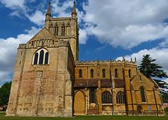 Pershore, Worcestershire, Abbey Church of the Holy Cross and St Edburga. (Tudor Barlow) Tags: summer england churches worcestershire listedbuilding pershore parishchurch pershoreabbey gradeilistedbuilding lumixfz200