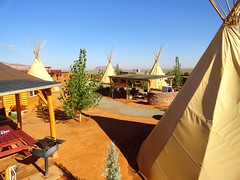 Tipi Village, Monument Valley, Utah (travelourplanet.com) Tags: arizona usa utah arch ruin monumentvalley mesa anasazi navajotribalpark teardroparch tipivillage monumentvalleytipivillage hiddenruin reddoormesa