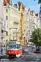 "Strade ""Ceche"" (Vincenzo Saffioti) Tags: street city travel urban building cars lines train photography europe cityscape republic czech prague bend metro curves railway praha"