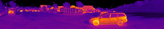 Thermal panorama - from video! (Ultrapurple) Tags: panorama hot cold scale composite grey weird cool warm experimental invisible warmth experiment science panoramic heat infrared 8bit temperature carpark thermal cambridgeshire android nightvision lowres scientific falsecolor falsecolour imager thermalimage weirdscience thermalcamera thermogram thermograph thermographic thermalimager lwir uncooled thermapp microbolometer