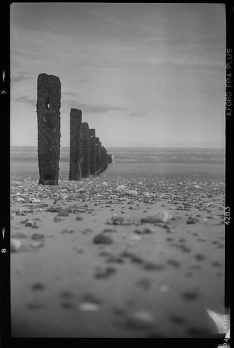 Littlestone beach, 120 film, shot on 1910 foldable pocket camera.