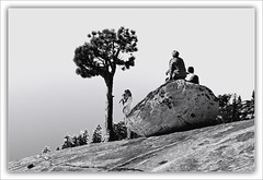 I Can See Forever From Here (karith) Tags: people mountain landscape view photoshopped boulder yosemite lonetree olmsteadpoint karith strangersinmyphoto