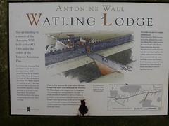 Antonine Wall - Watling Lodge information board (luckypenguin) Tags: sign scotland information historicscotland romanempire falkirk camelon tamfourhill antoninewall