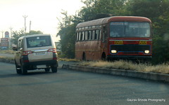 MSRTC Bus Spotted near Shirdi (gouravshinde94) Tags: bus tata shirdi msrtc