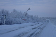 City Limit (8pl) Tags: road trees winter snow ice russia hiver route neige northern froid panneau fort nord russie glace citylimit autostop lovozero  infinitexposure rennestylis oblastdemurmansk