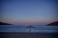 Solo (n.pantazis) Tags: blue sea summer beach sand dusk bluehour andros ormos korthi pentaxk30