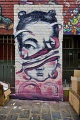 Sliced (J-C-M) Tags: street city streetart art mike wall painting graffiti artwork paint grafitti artistic australia melbourne wallart victoria eleven