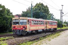 BZmot312 H-START Eger 06.08.10 (Paul David Smith (Widnes Road)) Tags: bzmot hstart mav eger railcar hungary railways
