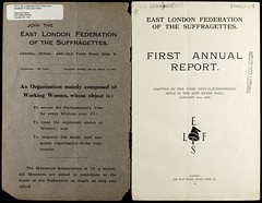 First annual report, East London Federation of Suffragettes1915
