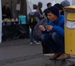 Asylum seeker at Stockholm Station (MichaelThelin) Tags: stockholm refugee asylumseeker