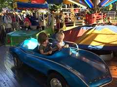 """Paul and Inde Ride in a Car at Sonny Acres • <a style=""""font-size:0.8em;"""" href=""""http://www.flickr.com/photos/109120354@N07/22856701219/"""" target=""""_blank"""">View on Flickr</a>"""
