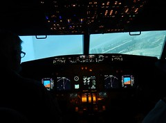 Banking Left (mikecogh) Tags: panel mc controls boeing instruments pilot dials banking 737 flightsimulator unley