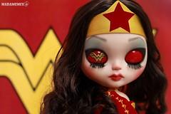Custom Blythe Wonder Woman para Inês Fontoura