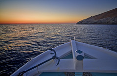 Starting... (n.pantazis) Tags: sea sky rock sunrise aegean greece tamron andros aegeansea korthi korthion pentaxk30