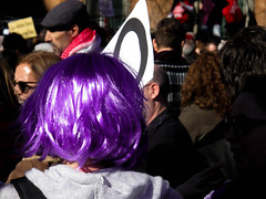 Purple Hair (Arrtez la Musique) Tags: madrid espaa woman donna mujer spain women purple feminine mulher protest demonstration protesta abortion rights wig donne insurrection femenino manifestacin peluca aborto derechos feminismo morado femenine womenrights femenin protestation abortolibre obtestation freeabortion