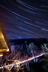 Stars above Minakami (Thomo13) Tags: travel sky japan night lights star trails onsen minakami startrails gunma