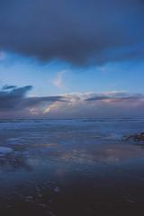reflection (j j miller) Tags: ocean california ca sunset storm reflection beach rain clouds coast dusk lowtide cloudporn hwy1 californiacoast pomponio statebeach pomponiostatebeach