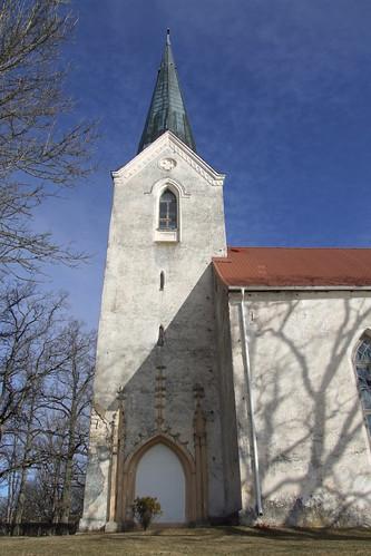 Kokneses evaņģēliski luteriskās baznīcas tornis, 10.04.2011.