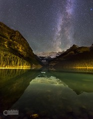 Night at Lake Louise in Canada, Banff (please follow me on https://500px.com/obrik) Tags: longexposure canada lakelouise banff landscape milkyway nightscape