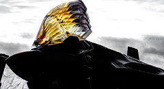Golden Canopy (txwhitacre - I think I'm back :)) Tags: f35 lightening2 d500 nikon fortworthallianceairshow airshow sky clouds fighterjet jets lockheed lockheedmartin outdoor