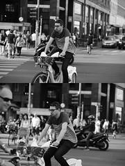 [La Mia Citt][Pedala] con il BikeMi (Urca) Tags: milano italia 2016 bicicletta pedalare ciclista ritrattostradale portrait dittico bike bicycle nikondigitale mir biancoenero blackandwhite bn bw 89839 bikemi bikesharing