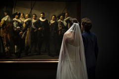 Wedding (siebe ) Tags: 2016 holland netherlands siebebaardafotografie bruidsfoto bruidsfotografie bruiloft dutch trouwreportage wedding wwwmooietrouwreportagesnl painting oldmaster schilderij bruidspaar museum rijksmuseum amsterdam bride bruid groom lovers art kunst couple veil sluier