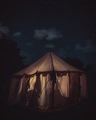 Night Out (trm42) Tags: livinghistory medieval medievalweek medeltidsveckan sweden yeolde visby shadows blue ruotsi camp yö histel dark teltta taivas sky historianelävöitys medievalfair yellow tent night historianelã¤vã¶itys yã¶