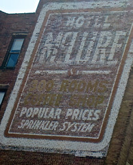 Hotel McLure, Wheeling, WV (Robby Virus) Tags: wheeling westvirginia hotel mclure ghost sign signage painted wall brick ad advertisement popular prices sprinkler system coffee shop 300 rooms
