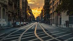 Sunset in Berlin (P. Ro Photo) Tags: berlin sunset street
