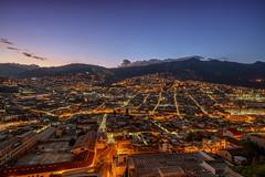 Quito cityscape at dawn (urbanexpl0rer) Tags: quito ecuador cityscape city bluehour mountains longexposure buildings residentialbuildings
