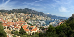 Monaco Panorama (_Hadock_) Tags: monte carlo montecarlo iphone 6 7 panorama pano panoramic panormica skyline cityscape landscape mediterranean mediterraneo houses city day daylight sea port puerto boats boat creative commons comons full hd fullhd nature wallpaper walpaper