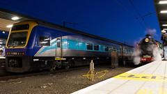 Xplorer + 3642 Sydney Central -2430 (Matty 8o) Tags: railway railways rail train trains enthusiast travel travelling trainspotting new south wales newsouthwales nsw australia australian photograph photo photography transport transportation canon700d canon 700d outdoor vehicle spotter spotting trainspotter trainphoto trainphotography railwayphotography weather sydney suburb mainline 1855mm 1855 trainlink high speed express syd central lachlan valley 5917 d59 locomotive loco nswrtm rtm 3642 c36 steam steamer kettle operational preserved xplorer dmu unit diesel multiple flickr