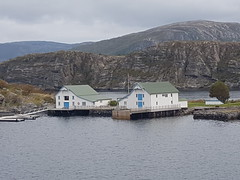 Buildings near the sea (Donald Morrison) Tags: hurtigruten mslofoten ship cruise bridge narrows stokkoybrua