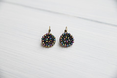 Iridescent earrings made crystals and beads on a brass base. Inspired by the Victorian period (amoretro) Tags: earrings brass victorianinspired retrojewelry retro crystals iridescent round handmade madeinitaly etsy amoretro