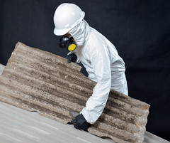 Removing roof asbestos material (Elena B Ibanez) Tags: asbestos removal roof removalist