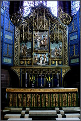 Lady Chapel Altar (* RICHARD M (Over 5.5 million views)) Tags: ladychapel chapel ladychapelaltar altar leadedwindows stainedglasswindows carvings windows architecture interiors liverpoolsladychapel liverpoolcathedral liverpoolanglicancathedral cathedrals churches tranquil tranquility serene serenity peaceful ornate anglican churchofengland protestant cofe placesofworship liverpool merseyside europeancapitalofculture capitalofculture cathedralchurchofchristinliverpool cathedralchurchoftherisenchristliverpool candles steps marblesteps