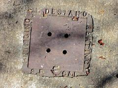 M. Desiano, San Francisco, CA (Robby Virus) Tags: sanfrancisco california sf ca desiano heating plumbing sewer vent cover sidewalk cement concrete michael