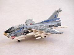 A-7E Corsair II updated (Mad physicist) Tags: lego a7e aircraft usnavy corsair