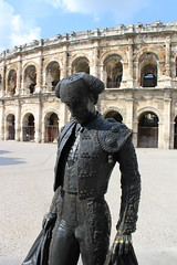 Bull Fighter at Nimes Arena (big_jeff_leo) Tags: nimes france roman temple arena building stone ancient architecture city facade fountain french empire old pilar column