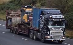 SM11LFG  R&S Bamber, Croston (highlandreiver) Tags: sm11lfg sm11 lfg rs bamber croston lancashire scania truck lorry haulage transport m6 wreay carlisle cumbria