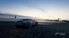 All Cars | One-77, Selected (Mr. Pebb) Tags: turn10 t10 playgroundgames photomode forzahorizon3 fh3 forza horizon3 stockshot xboxonephotomode xboxone videogame british astonmartinone77 supercar rwd rearwheeldrive frontengined v12 beach water sea evening sand scenic