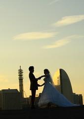 Wedding (seiji2012) Tags:      yokohama minatomirai wedding couple silhouette