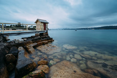 Camp Cove (haoguoju) Tags: australia nsw newsouthwales sydney landscape outdoor a7m2 a7 sony sonya7markii sonyilce7m2 fe beach 85mm light shadow cloudy campcove hut watsonsbay cityview seascape water sea cityscape hornby ladybay rock storm wind smooth fe1635mmf4zaoss 1635mm sonyzeissfe1635mmf4zaoss zeiss longexposure 1635mm sony1635mm 16mm
