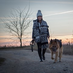 Best friend () Tags: dog portrait woman girl people outdoor walking hiking canon 700d 1755 nature sunset winter moments photoshoot loveit amazing days