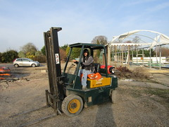 A last run round the car park on my old forklift (wallygrom) Tags: england westsussex angmering manornursery manornurseries