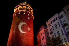 Galata tower, Istanbul (The_mediterranean_traveler) Tags: galatatower istanbul red tower backpacking cityscape history oldcity rawimages nikon nikond5300 nightphotography travel travelphotography turkey