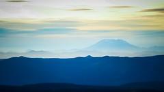high (LukeDetwiler) Tags: mountain mountains range mountainrange mtsthelens mthood cloudcapinn bright blue yellow landscape sunset nikon d3100 nikond3100