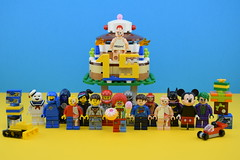Happy birthday to me ! (Alex THELEGOFAN) Tags: lego legography minifigures minifigure minifig minifigs minifigurine movie minifigurines marvel dc comics birthday jason freeny mickey batman cake