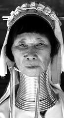 long cou (Bredz10) Tags: noir blanc photo visage portrait regard yeux thailande chiangmai